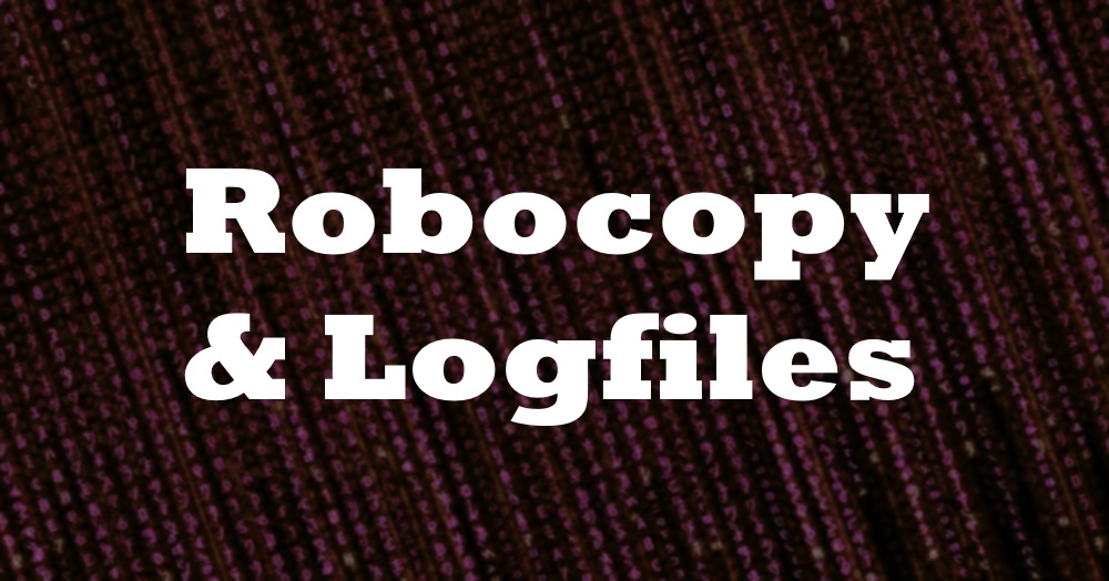 Deleting Log Files Using Robocopy